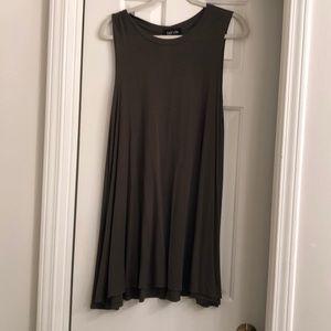 Hunter Green Cotton Tshirt Dress